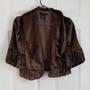 Gorgeous 3/4 sleeves velvet jacket
